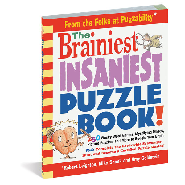 THE BRAINIEST INSANIEST PUZZLE BOOK!
