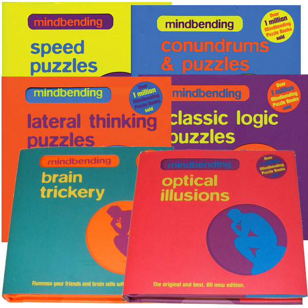 SET OF ALL SIX MINDBENDING PUZZLE BOOKS