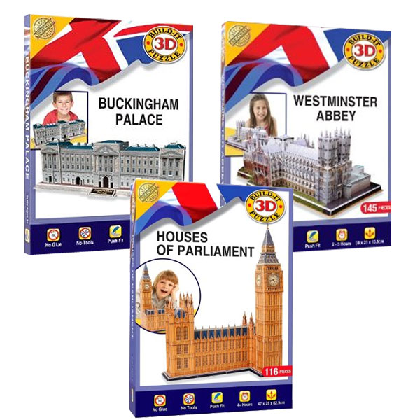HOUSES OF PARLIAMENT + BUCKINGHAM PALACE + WESTMINSTER ABBEY