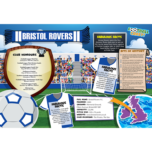 FOOTBALL CRAZY BRISTOL ROVERS 400 PIECE