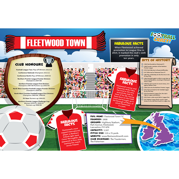 FOOTBALL CRAZY FLEETWOOD TOWN 400 PIECE