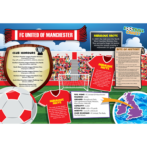 FOOTBALL CRAZY FC UTD OF MANCHESTER 400 PIECE
