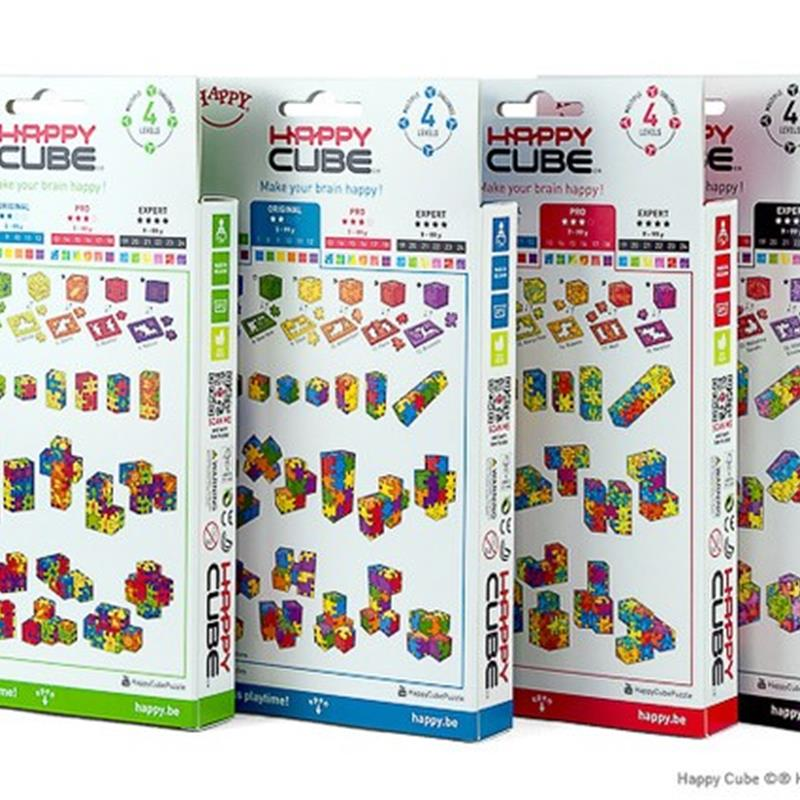SET OF FOUR HAPPY CUBES