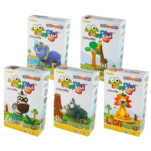 SET OF ALL 5 JUMPING CLAY SAVANNA KITS