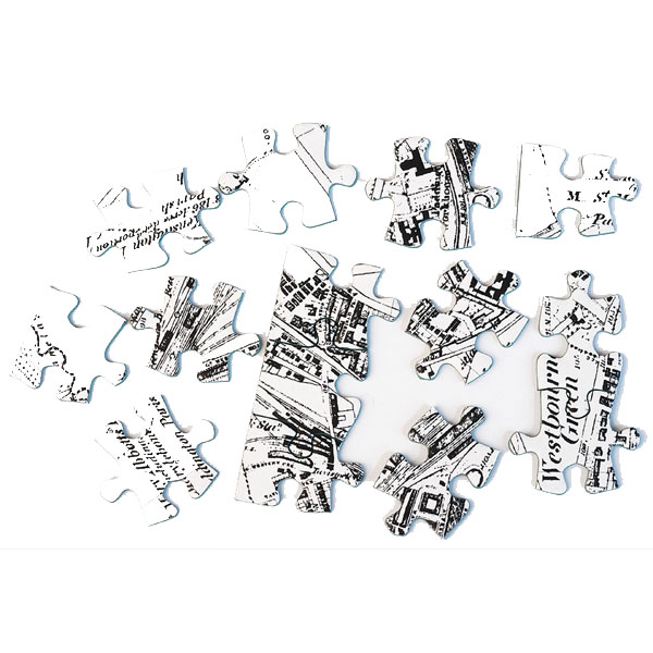 MAP JIGSAW PUZZLE VICTORIAN - ( 255 PIECE )