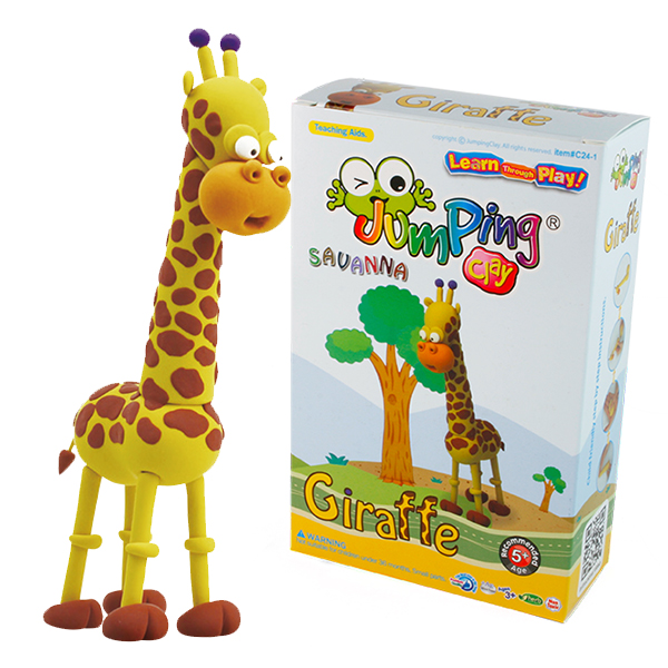 JUMPING CLAY SAVANNA GIRAFFE