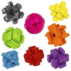 SET OF EIGHT COLOUR BLOCK PUZZLES