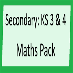 Maths Pack For Key Stage 3 & 4